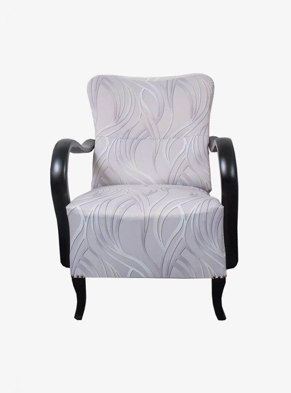 Art deco ezüst fotel