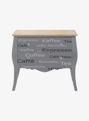 Komód kávé felirattal