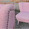 Rózsaszín, retro fotel