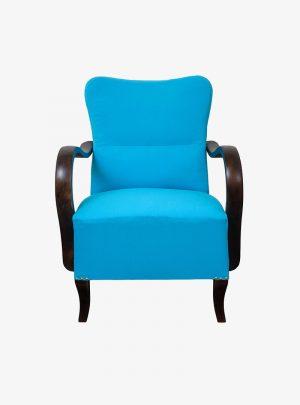 Art deco türkiz fotel