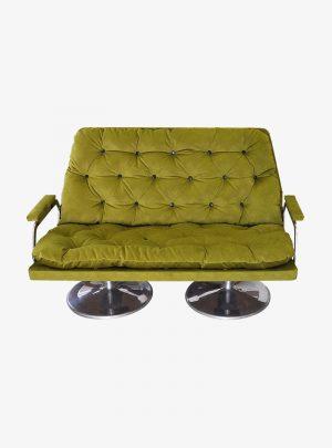 Zöld retro kanapé