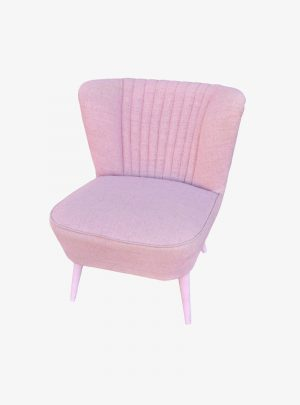Rózsaszín retró fotel
